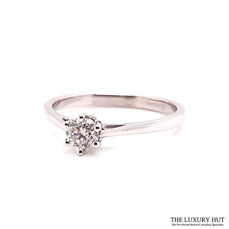 9ct White Gold 0.30ct Diamond Solitaire Ring Ref: 26183 Order Online Today For Next Day