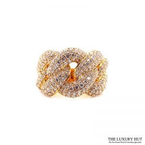 18ct Yellow Gold 5.80ct Diamond Twist Knot dress Ring Ref: 26190 Order Online Today For Next Day Delivery