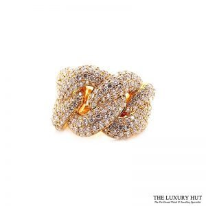 18ct Yellow Gold 5.80ct Diamond Twist Knot dress Ring Ref: 26190 Order Online Today For Next Day