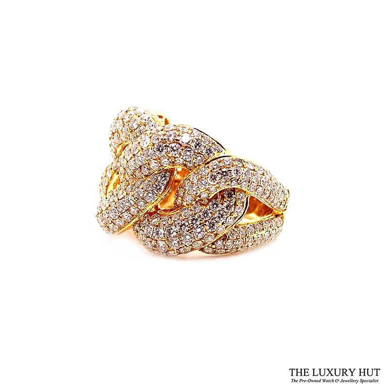 18ct Yellow Gold 5.80ct Diamond Twist Knot dress Ring Ref: 26190 Order Online Today