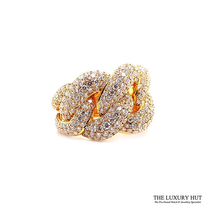 18ct Yellow Gold 5.80ct Diamond Twist Knot dress Ring Ref: 26190 Order Online Today Delivery