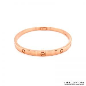 Shop Cartier 18ct Rose Gold Love Bangle - Order Online Today For Next Day