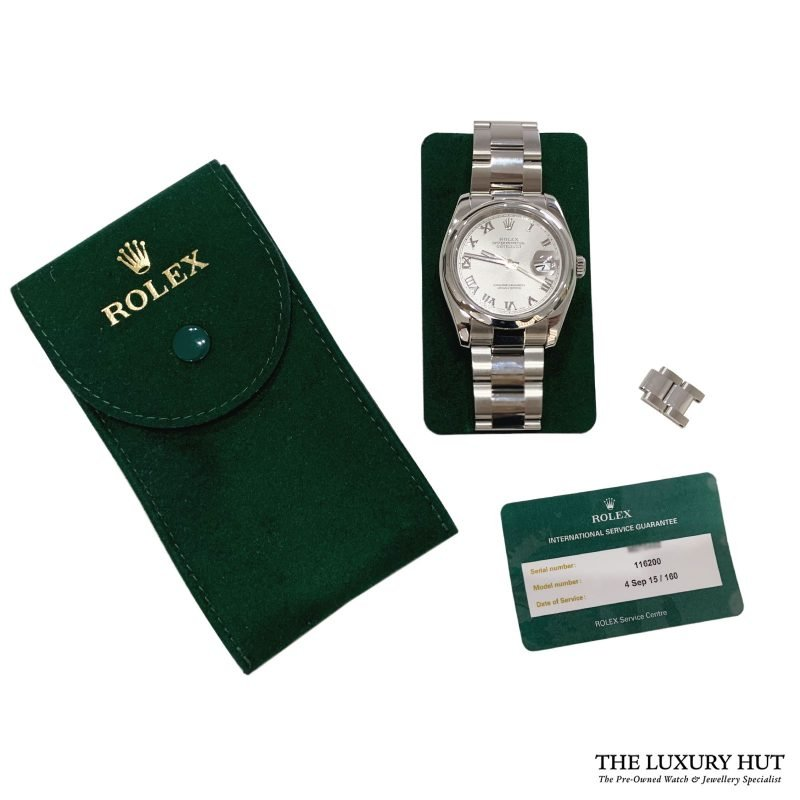 Rolex 2008 Oyster Perpetual Datejust Ref 116200 Watch