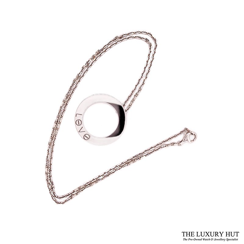 Shop Cartier 18ct White Gold Love Pendant - Order Online