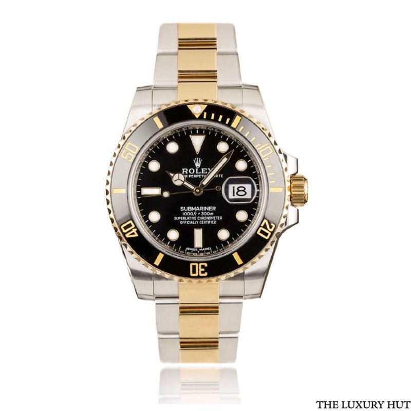 Rolex Submariner Bi-Metal Black Ref 116613LN Full Set Watch - Order Online Today For Next Day Delivery