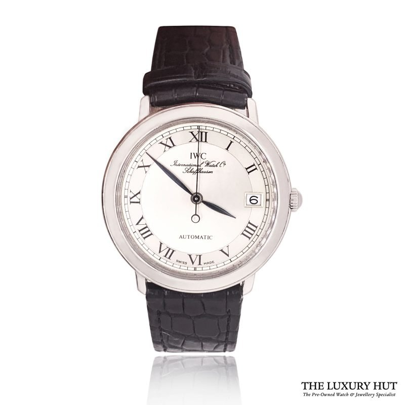 IWC Rare Platinum Automatic Date Watch Ref: IW3209 - Order Online Today For Next Day Delivery