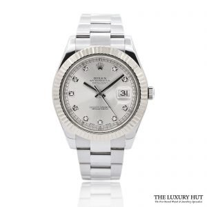 Rolex DateJust II Steel 41 Diamond Dial Ref 116334 Order Online Today For Next Day Delivery