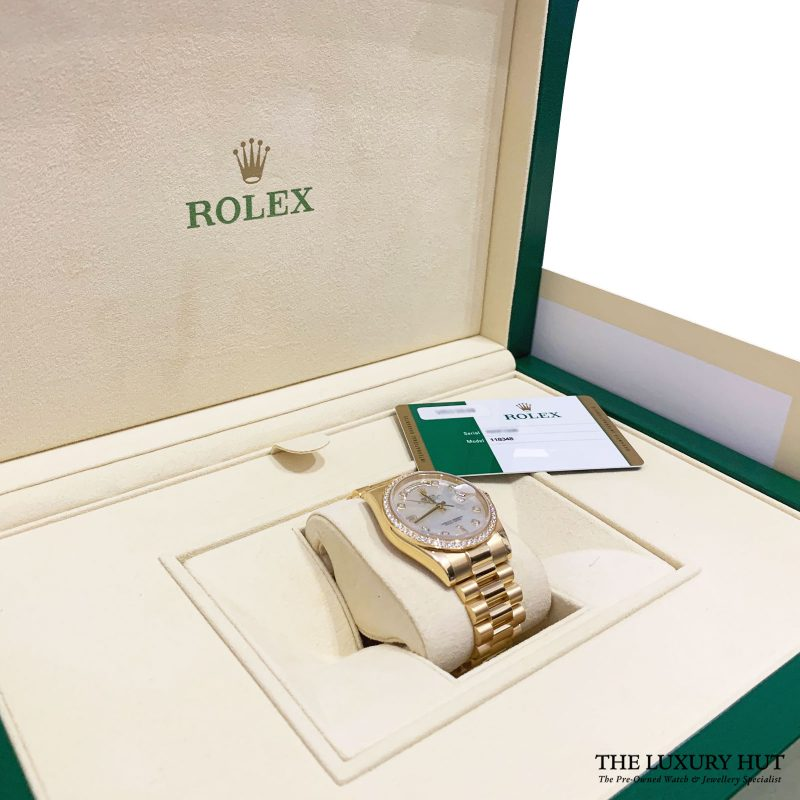 Rolex 18ct Gold Day-Date Diamond Dial Ref: 118348 Order Online Today