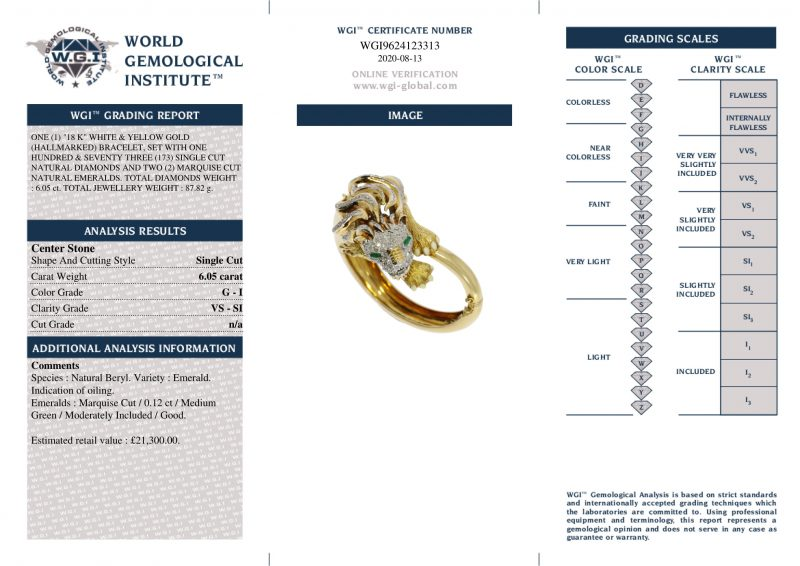 18ct White & Yellow Gold Diamond Bangle - Order Online Today For Delivery
