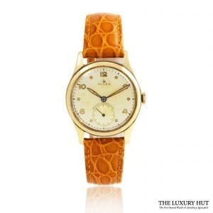 Rolex Vintage 9ct Gold Small Seconds Watch Order Online Today For Next Day Delivery