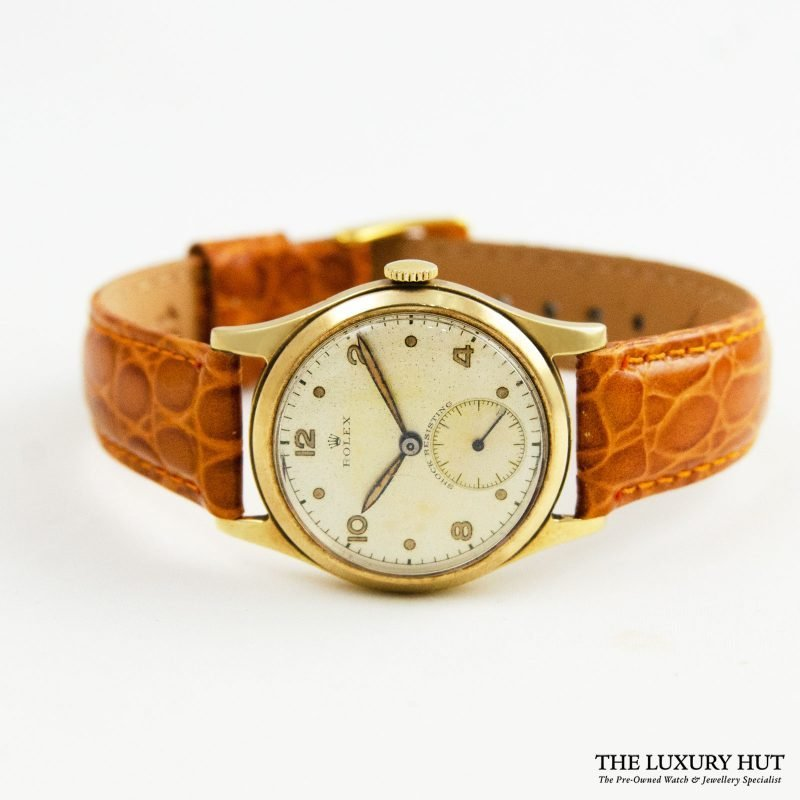Rolex Vintage 9ct Gold Small Seconds Watch