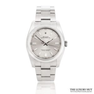 Rolex Oyster Perpetual Silver Dial Watch Ref:116000 Order Online Today For Next Day Delivery