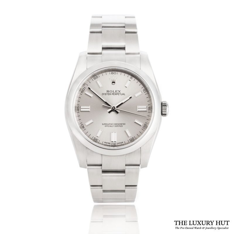 Rolex Oyster Perpetual Silver Dial Watch 116000
