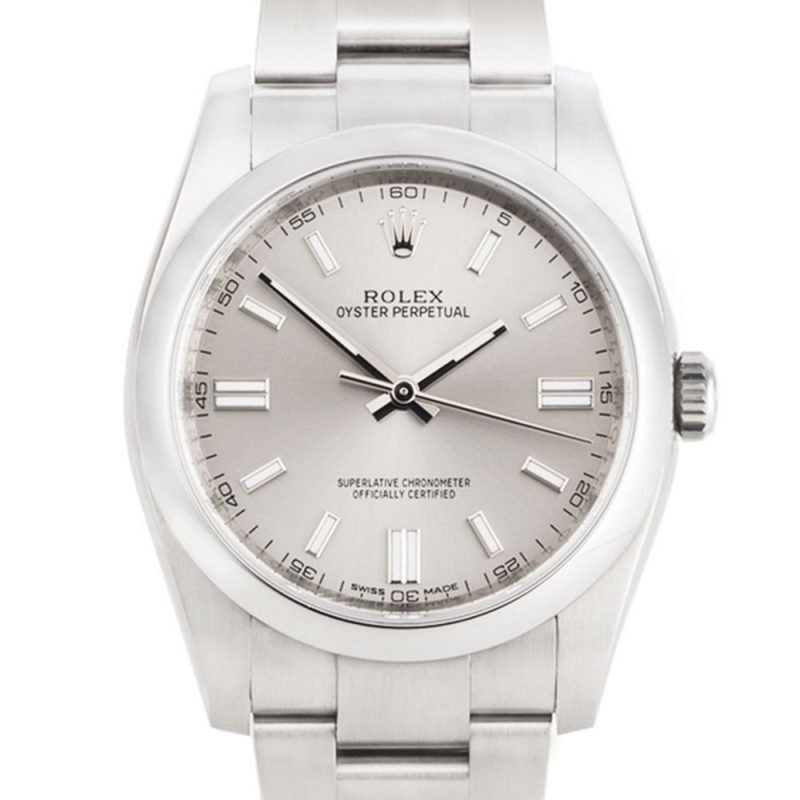 Rolex Oyster Perpetual Silver Dial Watch Ref:116000 Order