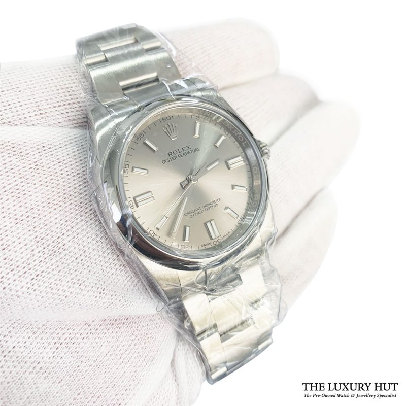 Rolex Oyster Perpetual Silver Dial Watch Ref:116000