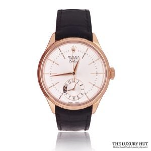 Rolex Cellini Dual Time 18ct Rose Gold Ref: 50525 Order Online Today For Next Day Delivery