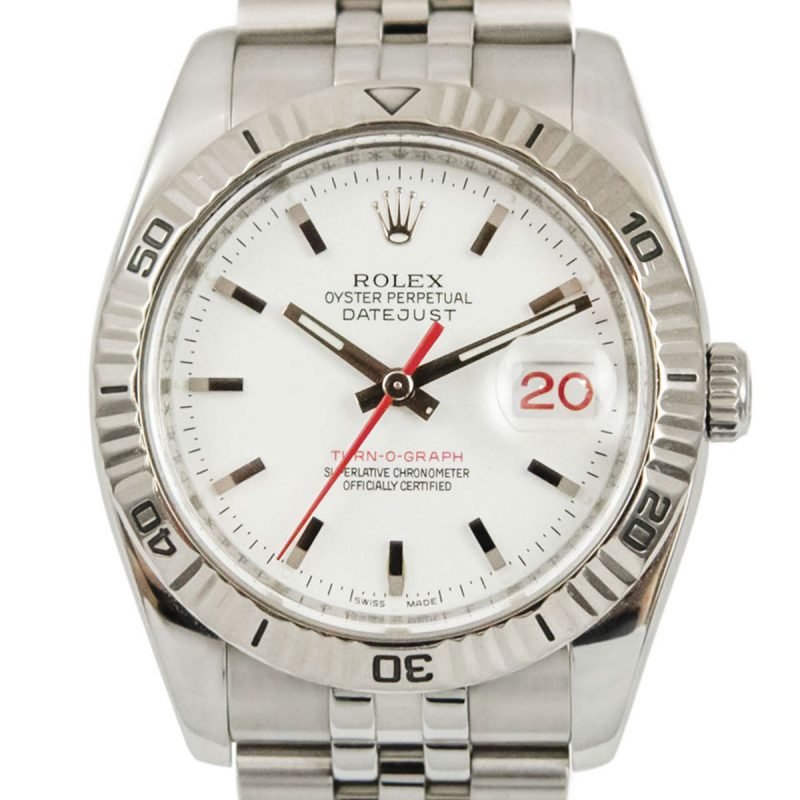Shop Rolex Datejust Turn-O-Graph Oyster Perpetual 2008 Ref: 116264