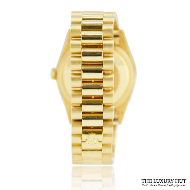 Rolex 18ct Gold President Day-Date White Diamond Dial Watch -Order Online Today