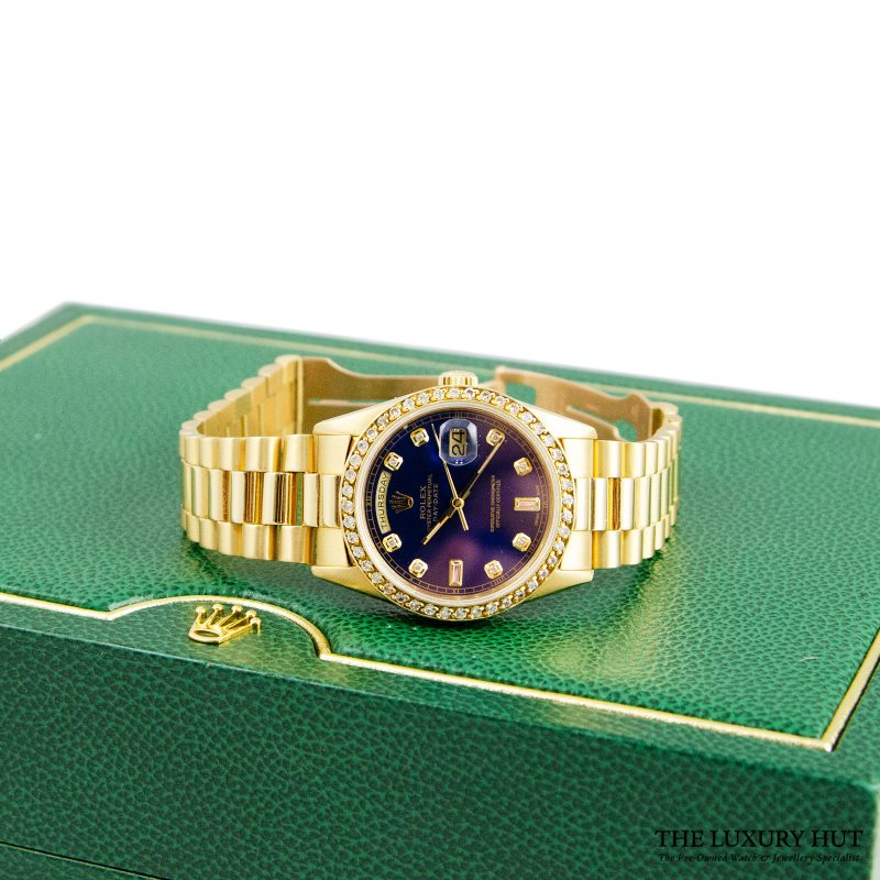 Rolex 18ct Gold President Day-Date White Diamond Dial Watch -Order