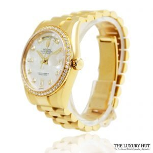 Rolex 18ct Gold Day-Date Diamond Dial Ref: 118348 Order Online Today For Next Day