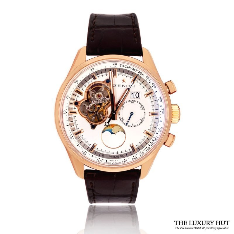 Zenith El Primero Chronograph Rose Gold Watch Order Online Today For Next Day Delivery