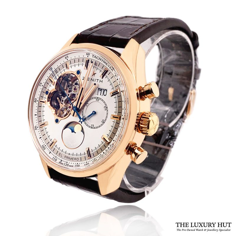 Zenith El Primero Chronograph Rose Gold Watch Order Online Today For Next Day