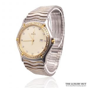 Ebel Two-Tone Diamond Wave Watch Ref: 183937 - 1993 Order Online today for next day