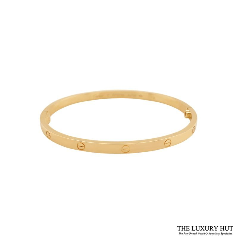 Cartier 18ct Yellow Gold Love Bangle Size 17 - Order Online Today For Next Day Delivery