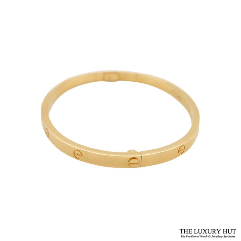 Cartier 18ct Yellow Gold Love Bangle Size 17 - Order Online Today For Next Day