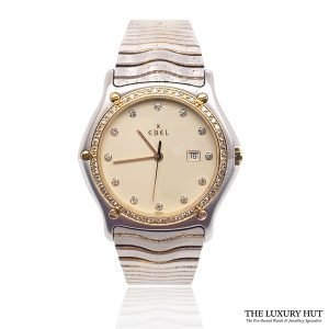 Ebel Two-Tone Diamond Wave Watch Ref: 183937 - 1993 Order Online today for next day delivery