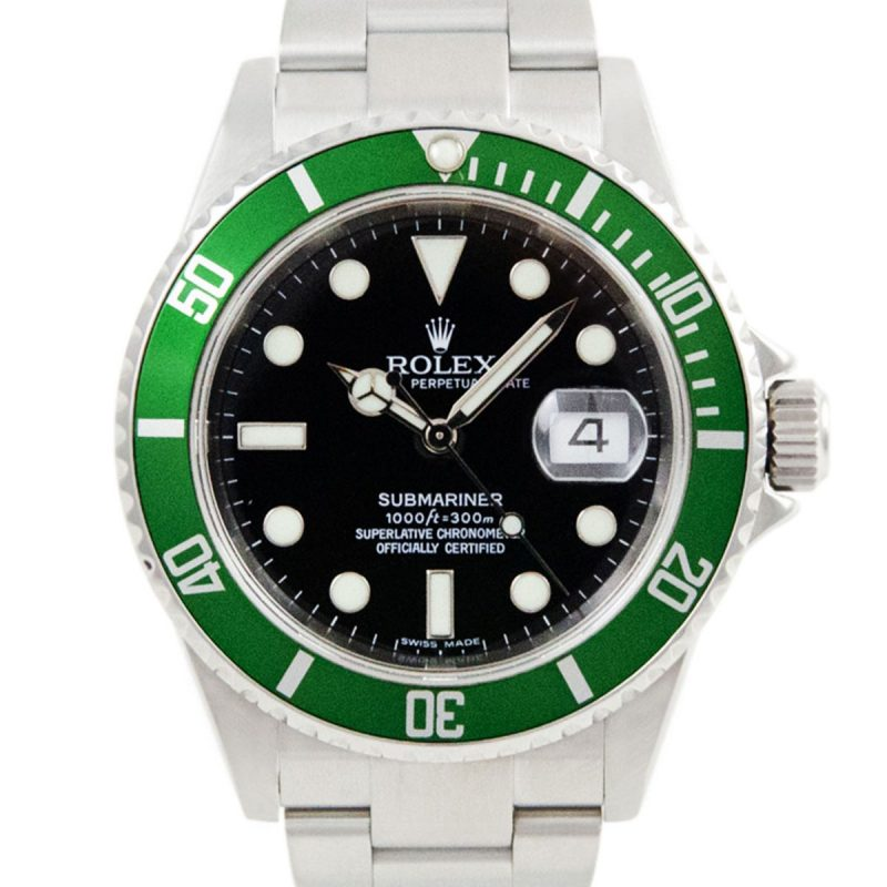 Rolex Kermit Submariner Oyster Date Ref 16610LV Watch - Order Online today delivery.