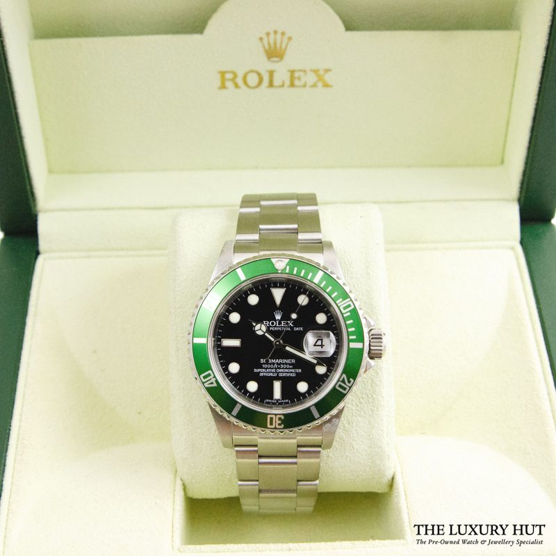 Rolex Kermit Submariner Oyster Date Ref 16610LV Watch