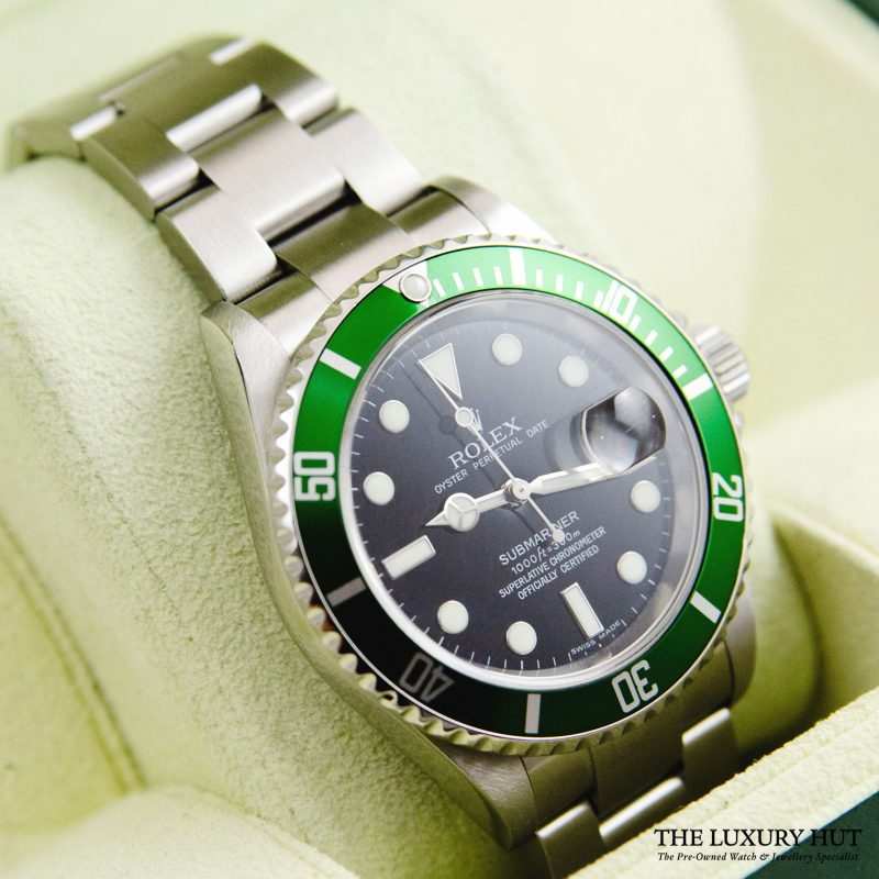 Rolex Kermit Submariner Oyster Date Ref 16610LV Watch - Order delivery.
