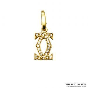 Shop Cartier 18ct Yellow Gold & Diamond Charm Pendant Order Online today for next day delivery