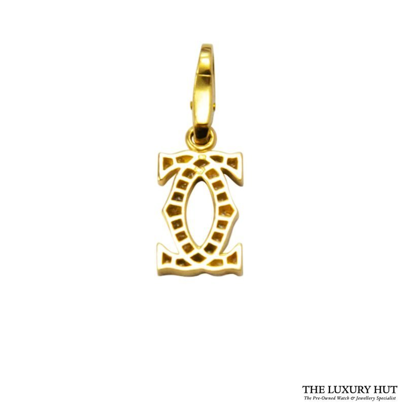 Shop Cartier 18ct Yellow Gold & Diamond Charm Pendant Order Online today