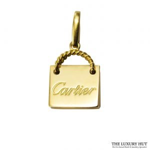 Shop Cartier 18ct Yellow Gold Shopping Bag Charm Pendant order online today for next day delivery