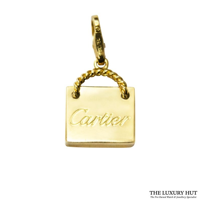 Shop Cartier 18ct Yellow Gold Shopping Bag Charm Pendant order online today for next day