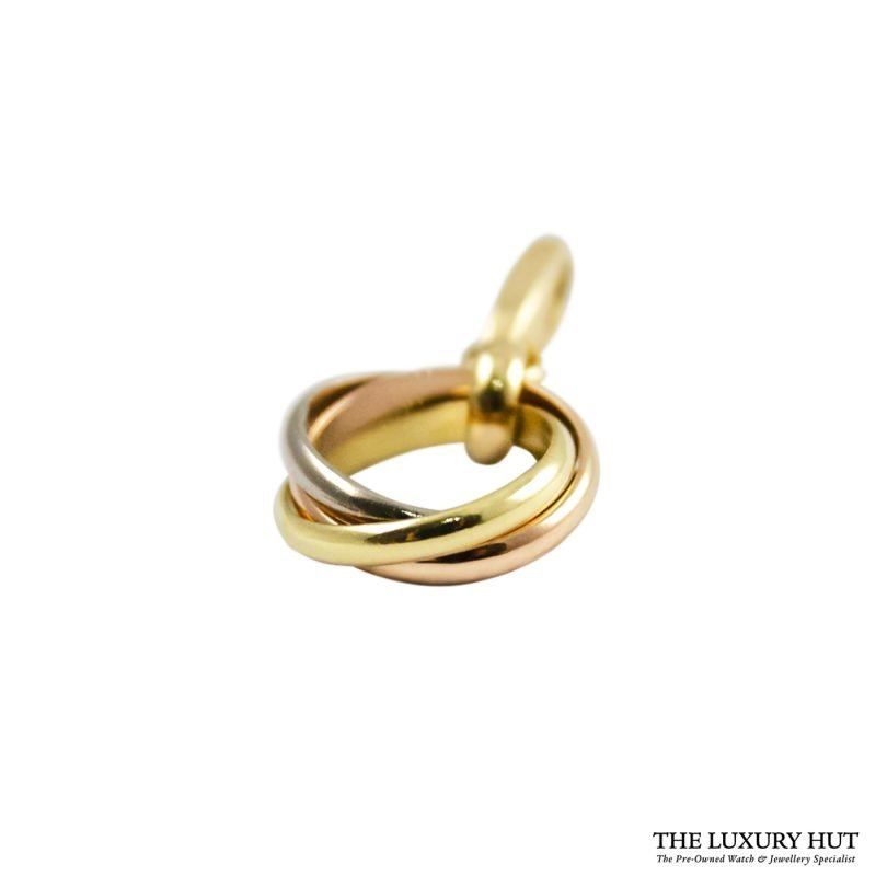 Shop Cartier 18ct Gold Trinity Charm Pendant order online today for next day