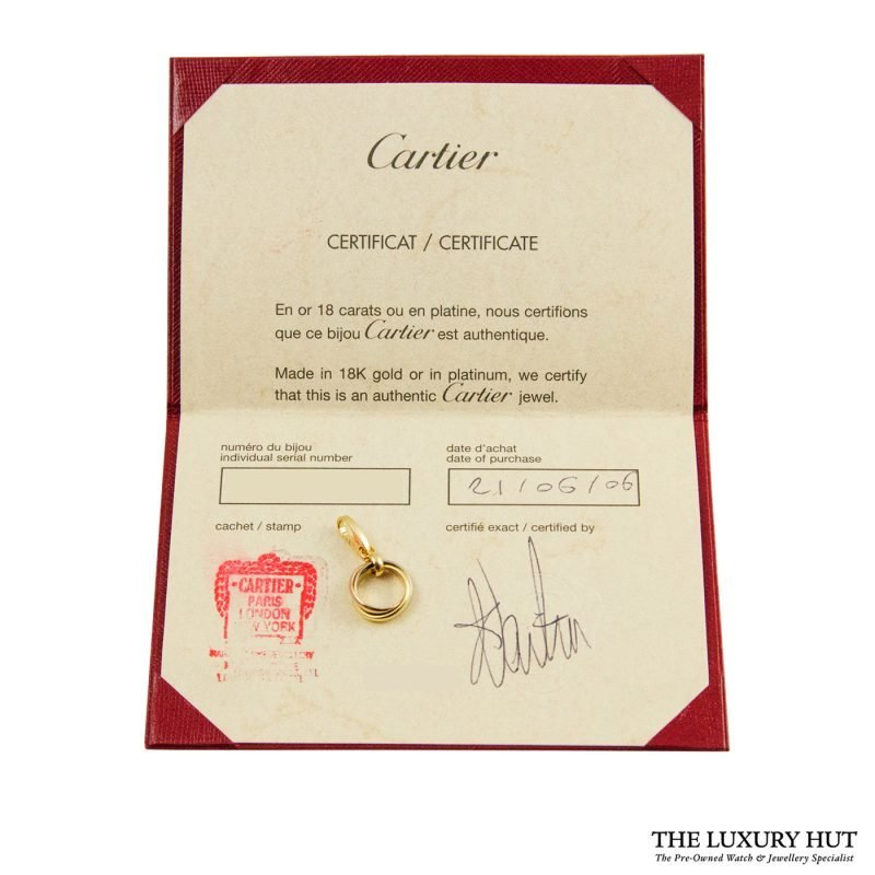 Shop Cartier 18ct Gold Trinity Charm Pendant order online today