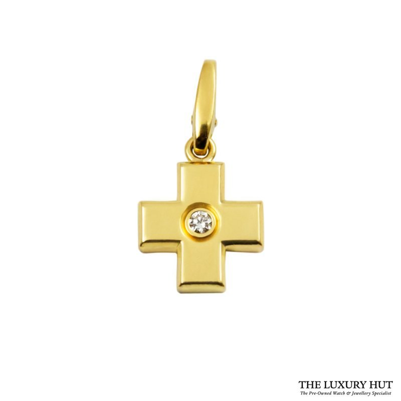 Shop Cartier 18ct Yellow Gold Diamond Charm Pendant order online today for next day delivery