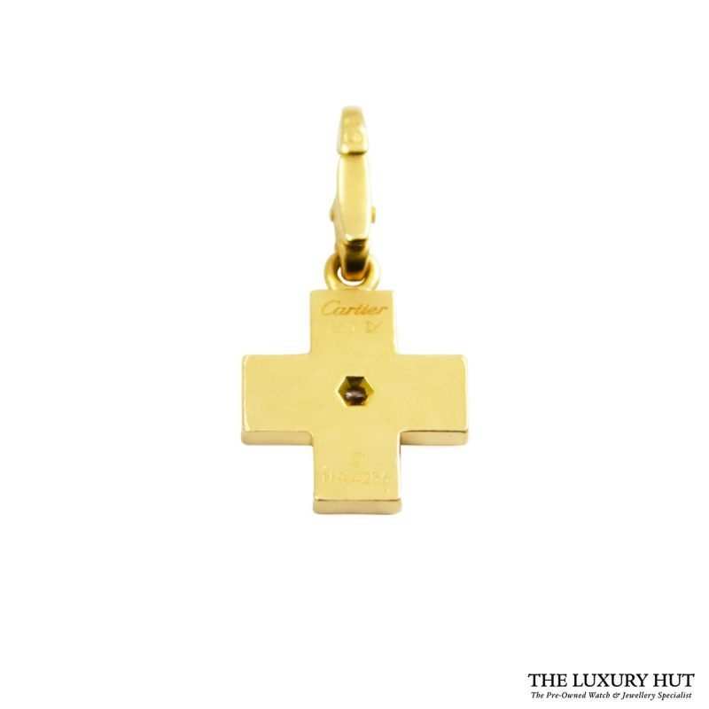 Shop Cartier 18ct Yellow Gold Diamond Charm Pendant order online today for next day