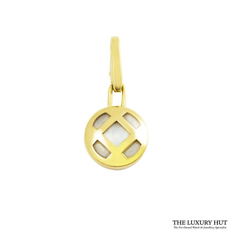 Shop Cartier 18ct Yellow Gold Mother of Pearl Charm Pendant order online today for next day delivery