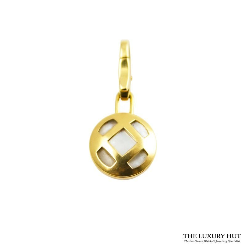Shop Cartier 18ct Yellow Gold Mother of Pearl Charm Pendant order online today