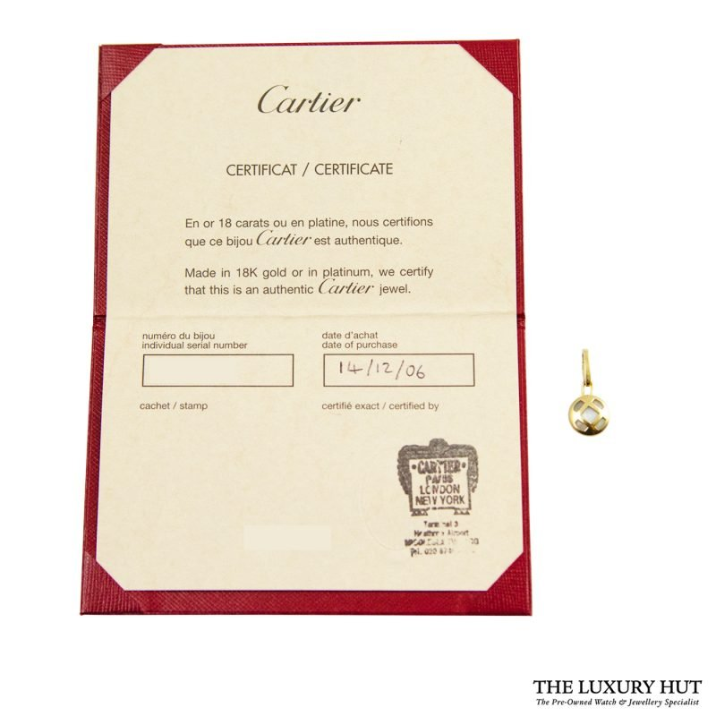 Shop Cartier 18ct Yellow Gold Mother of Pearl Charm Pendant order online