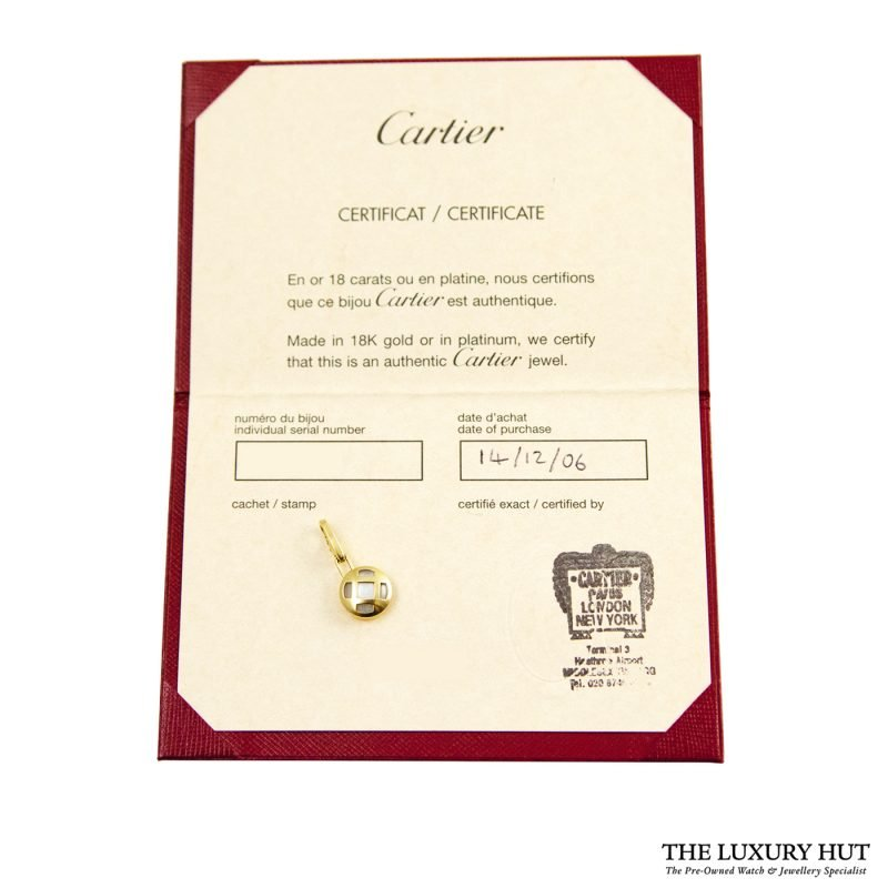 Shop Cartier 18ct Yellow Gold Mother of Pearl Charm Pendant order