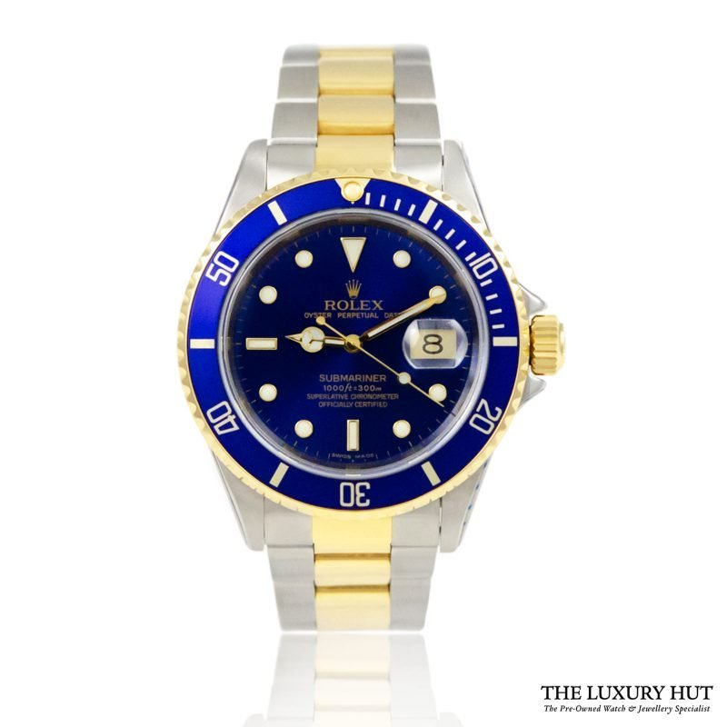 Rolex Submariner Bi-Metal Blue 1993 Ref 16613 Watch - Order Online today for next day delivery