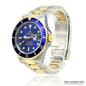 Rolex Submariner Bi-Metal Blue 1993 Ref 16613 Watch - Order Online today for next day