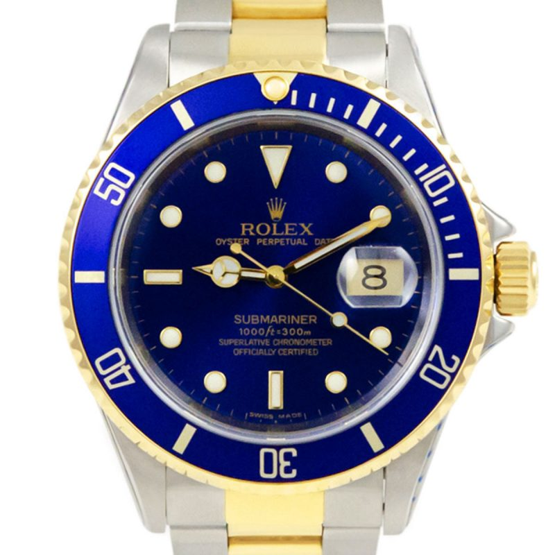 Rolex Submariner Bi-Metal Blue 1993 Ref 16613 Watch - Order Online