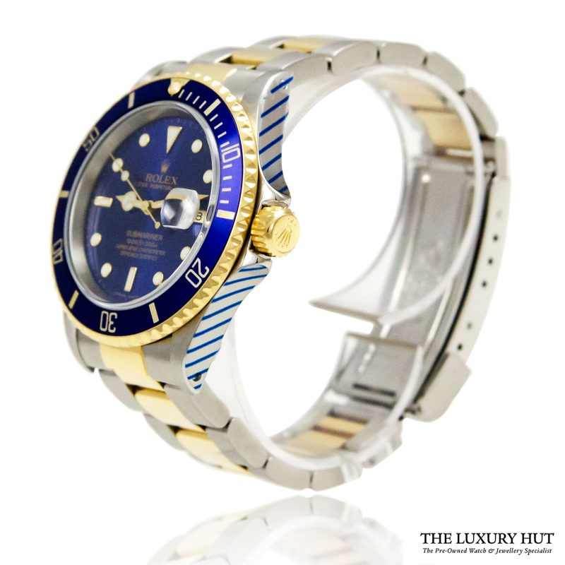 Rolex Submariner Bi-Metal Blue 1993 Ref 16613 Watch