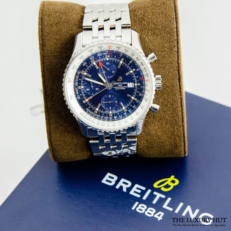 Breitling Navitimer 1 Chronograph GMT Watch Ref: A24322121C2P2 - Order Online